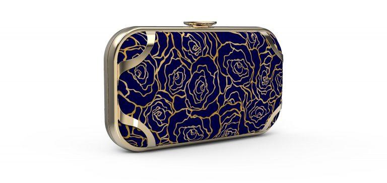 Stitchsmith London clutch bag gold frame